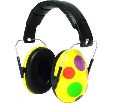 Kids Ear Defenders Yellow Spotty