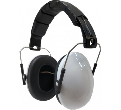 Kids Ear Defenders White Gloss ( NO LOGO )