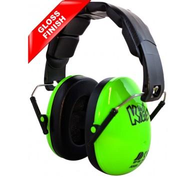 Kids Ear Defenders Green Gloss
