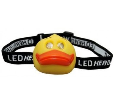 Childrens Duck 2 LED Head Torch