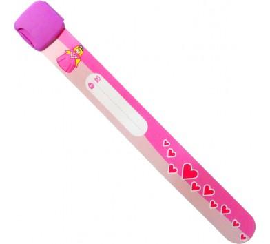Edz Kidz ID Wristband - Princess / Hearts