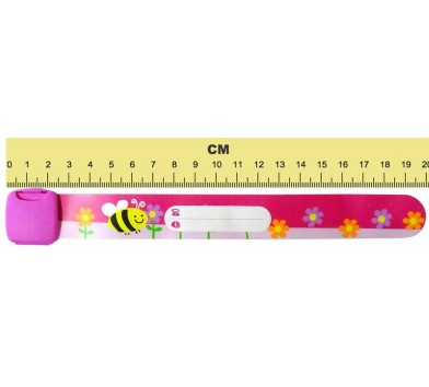 Edz Kidz ID Wristband - Bee / Flowers