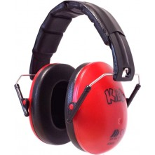 Kids Ear Defenders Red Matt