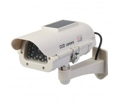 Solar-Powered Dummy CCTV Camera with LED